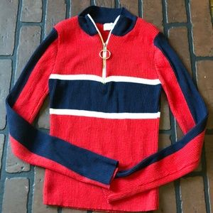Women's half zip sweater size small